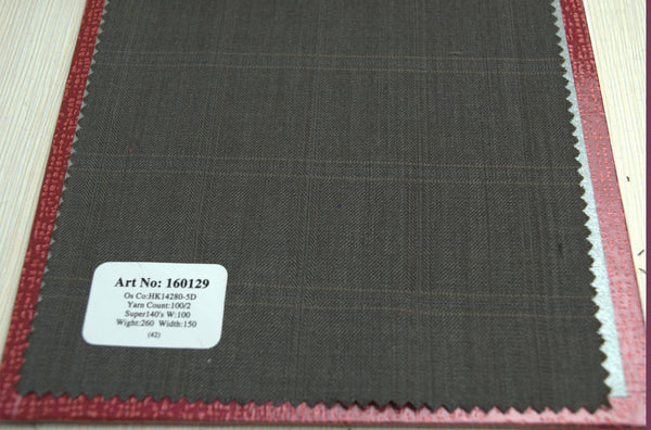 signature-100-wool-super-140s-260-gs-m-check-brown-160129 - DV Clothiers - The Best Custom Mens Suits In Vancouver
