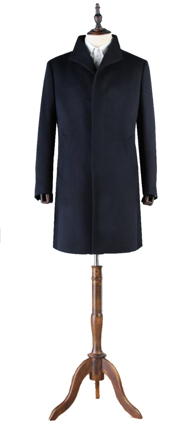 Premium 1/2 Length Concealed Button Overcoat