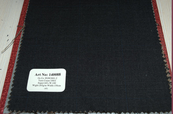 signature-100-wool-super-140s-265-gs-m-check-charcoal-140088 - DV Clothiers - The Best Custom Mens Suits In Vancouver