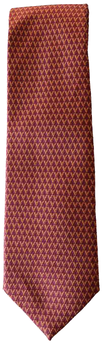 Hand Sewn - Italian Silk Tie - Reddish Purple Pattern