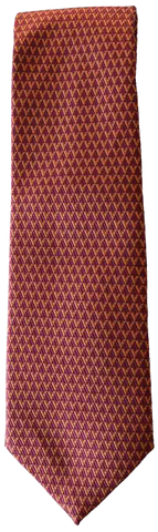 Italian silk ties hand sewn in Italy - Reddish Purple Pattern