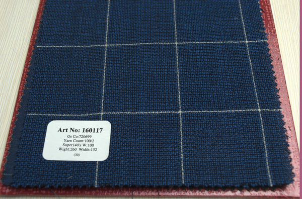 signature-100-wool-super-140s-260-gs-m-check-blue-160117 - DV Clothiers - The Best Custom Mens Suits In Vancouver