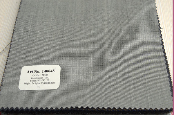 signature-100-wool-super-140s-245-gs-m-plain-grey-140048 - DV Clothiers - The Best Custom Mens Suits In Vancouver