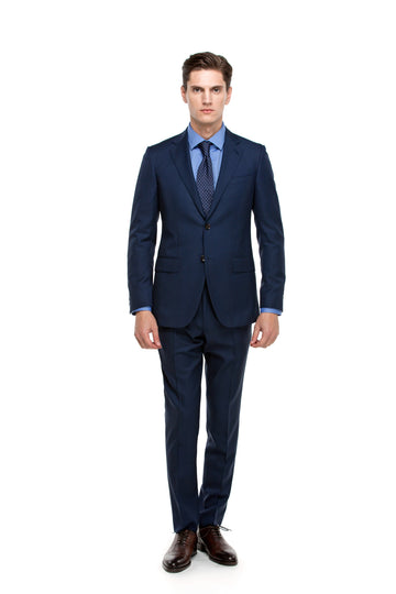 The All-Season Solid Blue Suit