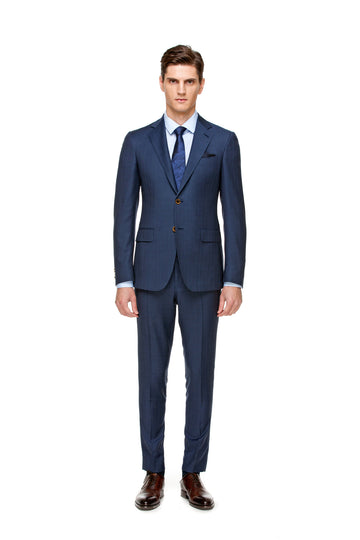 The All-Season Subtle Blue Check Suit