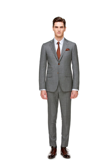 The All-Season Subtle Grey Check Suit