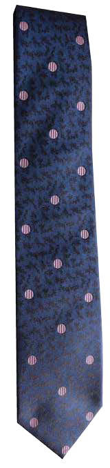 Italian silk ties hand sewn in Italy - Blue & Pink Dot