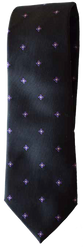 Hand Sewn - Italian Silk Tie - Dark Blue & Purple