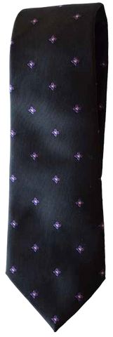 Italian silk ties hand sewn in Italy - Dark Blue & Purple