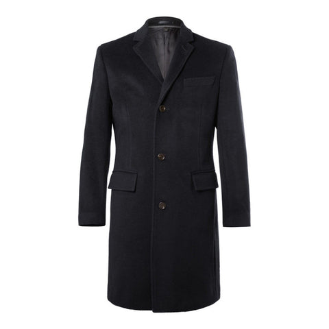 Single Breasted Black Overcoat - DV Clothiers - The Best Custom Mens Suits In Vancouver
