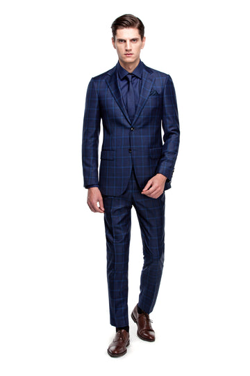 The Bold Blue Check Suit