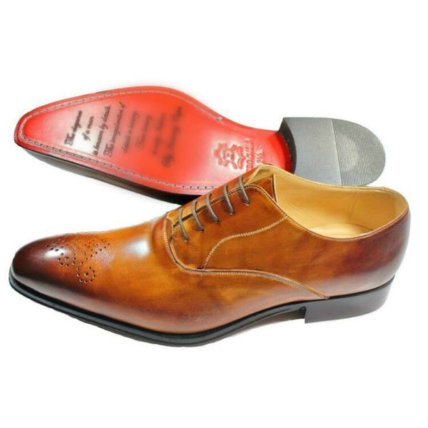 Light Brown Brogue - DV Clothiers - The Best Custom Mens Suits In Vancouver