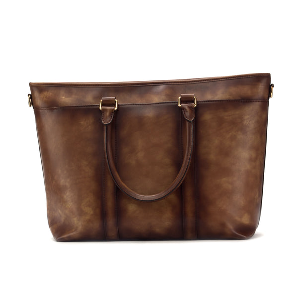 Painted Calf Medium Brown Casual Tote Bag