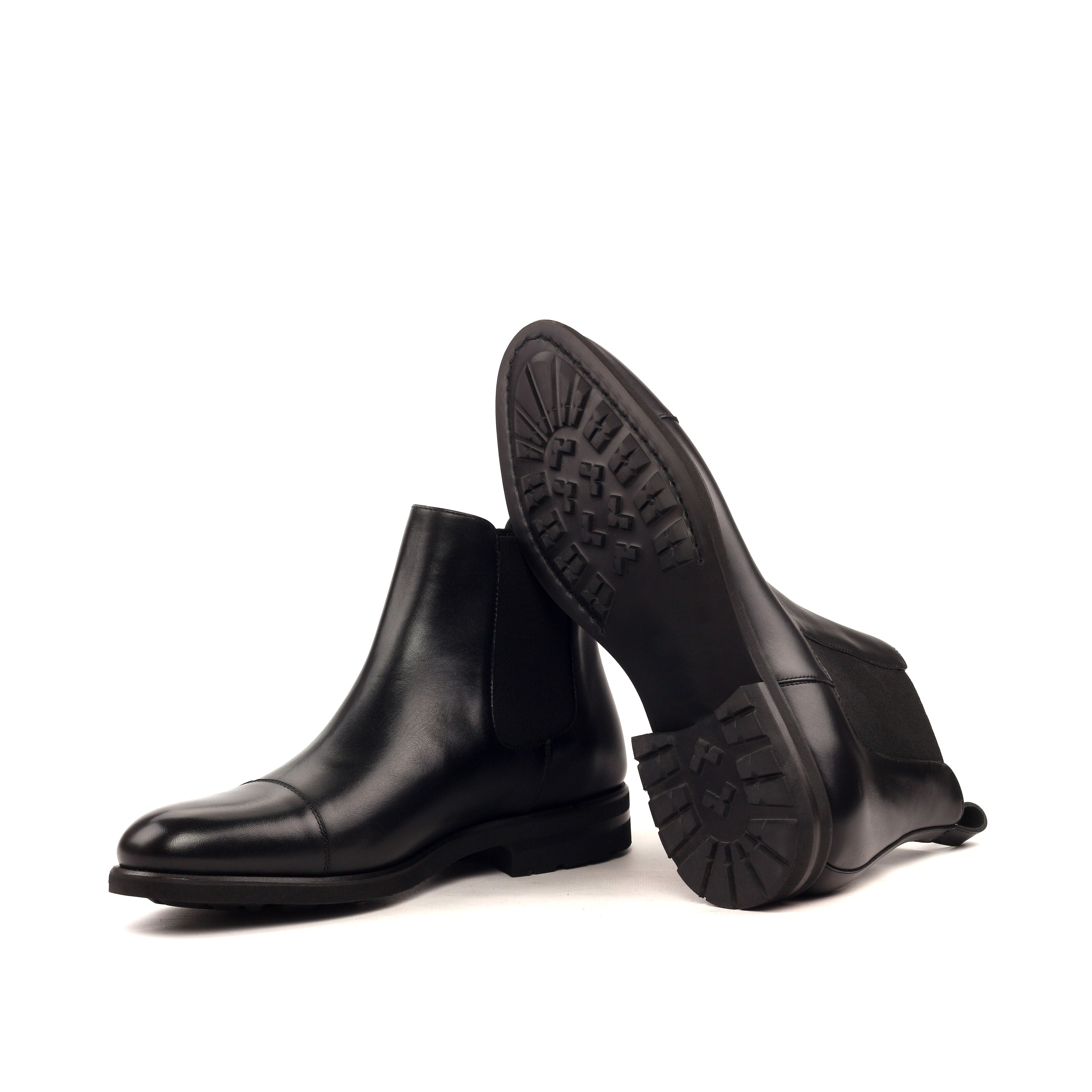 Custom Designed Box Calf Chelsea Boots - DV Clothiers - The Best Custom Mens Suits In Vancouver