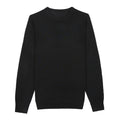 Black Crew Neck Merino Wool Sweater