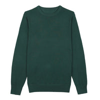 Green Crew Neck Merino Wool Sweater