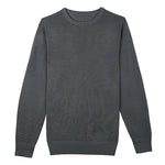 Grey Crew Neck Merino Wool Sweater