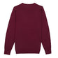 Red Crew Neck Merino Wool Sweater