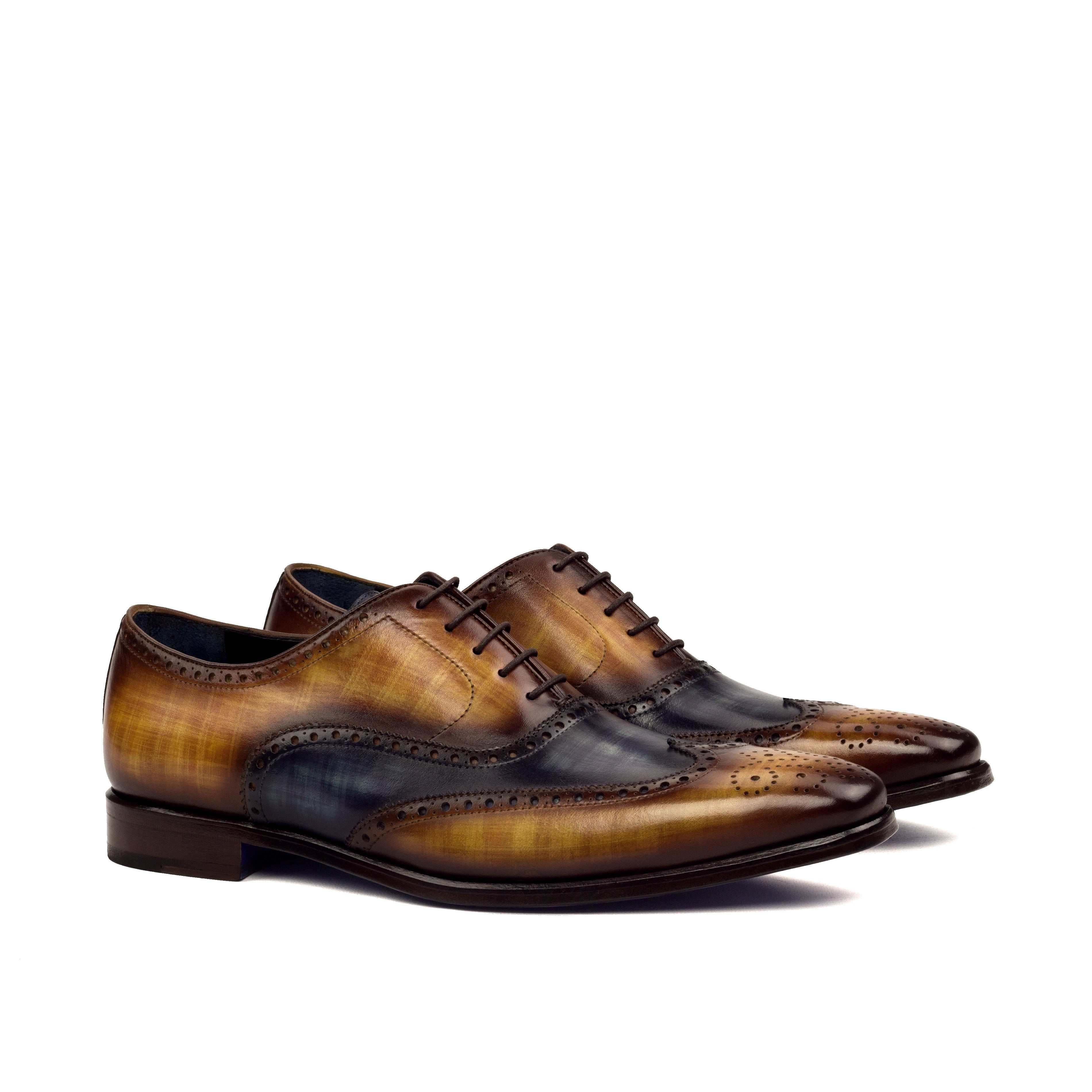 Custom Designed Patina Full Brogue - DV Clothiers - The Best Custom Mens Suits In Vancouver