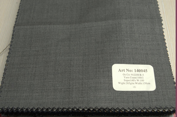 signature-100-wool-super-140s-265-gs-m-plain-grey-140045 - DV Clothiers - The Best Custom Mens Suits In Vancouver