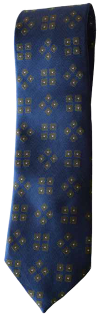 Italian silk ties hand sewn in Italy - Blue Pattern