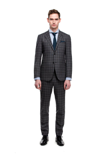 The Bold Grey Check Suit