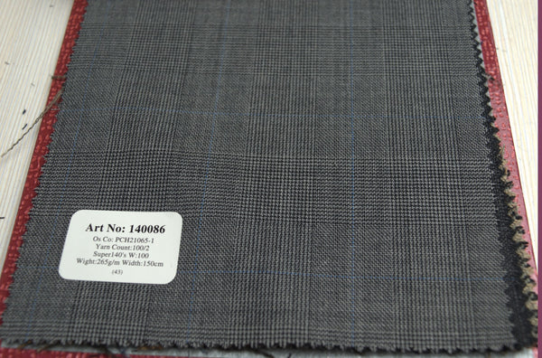 signature-100-wool-super-140s-265-gs-m-check-grey-140086 - DV Clothiers - The Best Custom Mens Suits In Vancouver