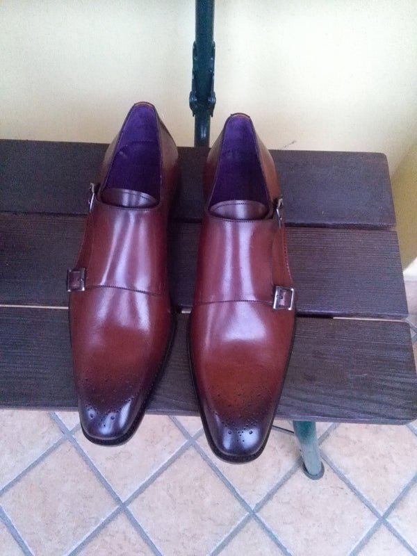 Cordovan Leather Monkstraps - DV Clothiers - The Best Custom Mens Suits In Vancouver