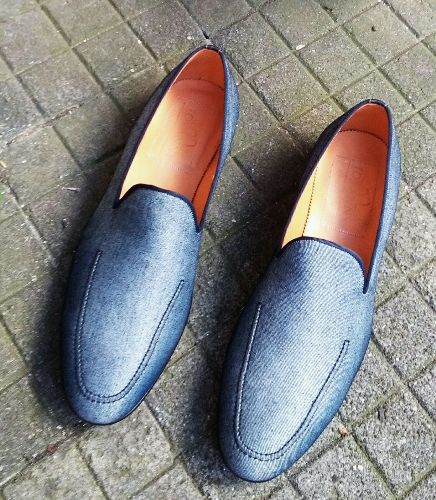 Blue Denim Loafer - DV Clothiers - The Best Custom Mens Suits In Vancouver