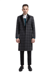 Check Style Overcoat