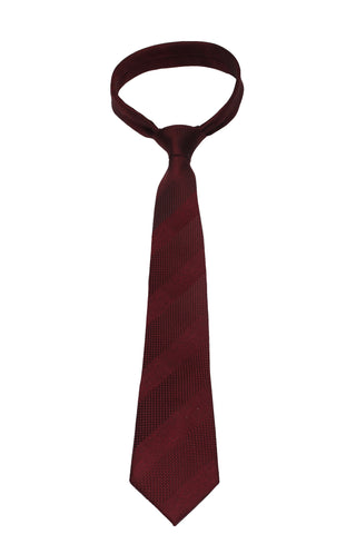 Red Textured / Stripe Mulberry Silk Tie - DV Clothiers - The Best Custom Mens Suits In Vancouver