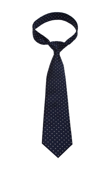 Blue Dot Mulberry Silk Tie