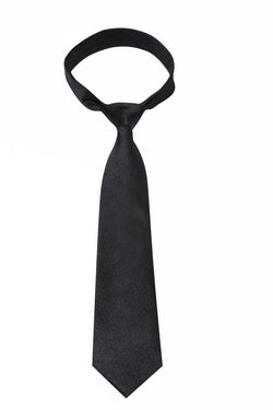 Black Melange Mulberry Silk Tie