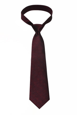 Red Melange Mulberry Silk Tie - DV Clothiers - The Best Custom Mens Suits In Vancouver