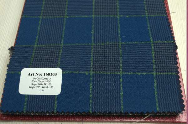 signature-100-wool-super-140s-255-gs-m-check-blue-green-160103 - DV Clothiers - The Best Custom Mens Suits In Vancouver