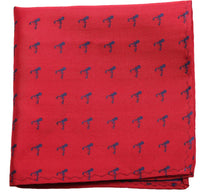Red Mulberry Silk Pocket Square - DV Clothiers - The Best Custom Mens Suits In Vancouver