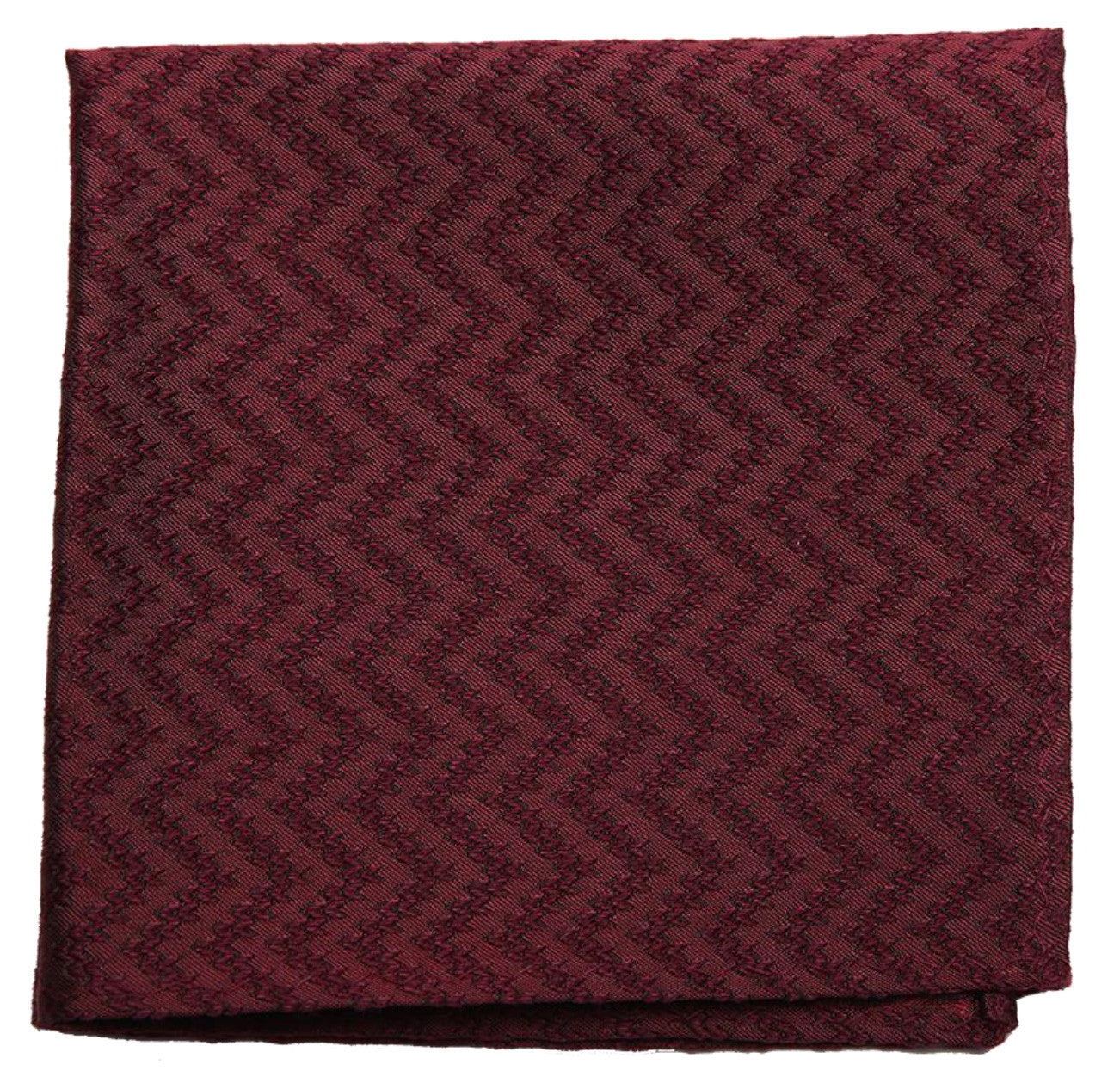 Brown Mulberry Silk/ Wool Pocket Square - DV Clothiers - The Best Custom Mens Suits In Vancouver