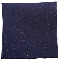Blue Mulberry Silk/ Wool Pocket Square - DV Clothiers - The Best Custom Mens Suits In Vancouver