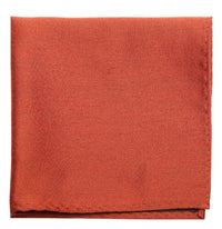 Red Mulberry Silk/ Wool Pocket Square - DV Clothiers - The Best Custom Mens Suits In Vancouver