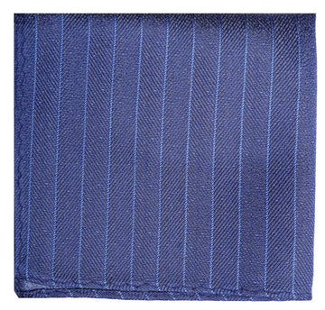 Blue Mulberry Silk Pocket Square