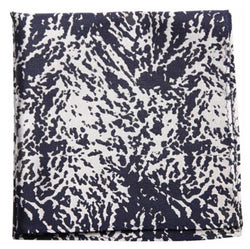 Blue White Shaded Mulberry Silk Pocket Square