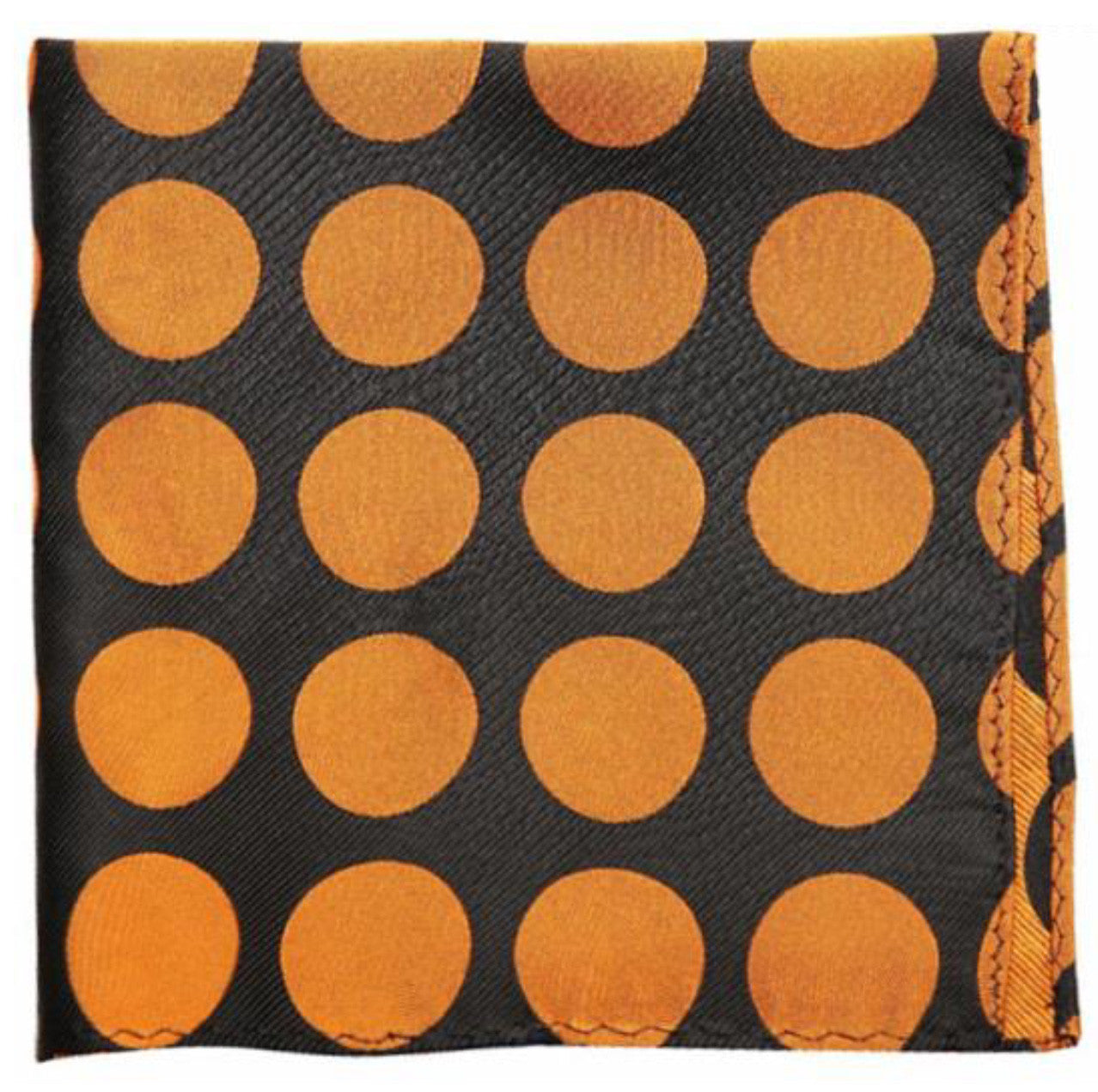 Black Brown Dotted Mulberry Silk Pocket Square - DV Clothiers - The Best Custom Mens Suits In Vancouver