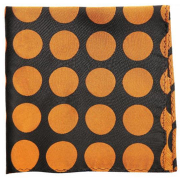 Black Brown Dotted Mulberry Silk Pocket Square
