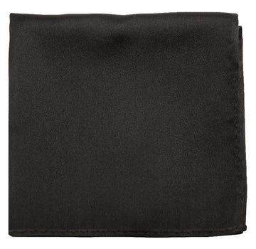 Black Mulberry Silk Pocket Square