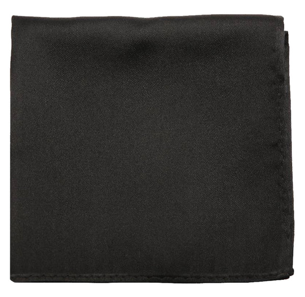 Black Mulberry Silk Pocket Square - DV Clothiers - The Best Custom Mens Suits In Vancouver
