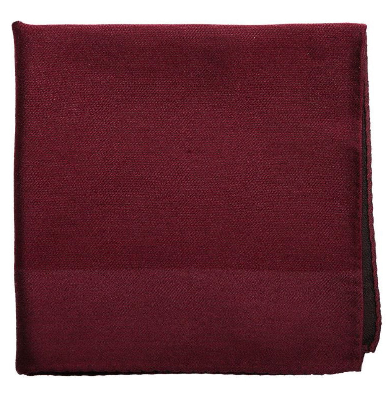 Burgundy Mulberry Silk/ Wool Pocket Square - DV Clothiers - The Best Custom Mens Suits In Vancouver