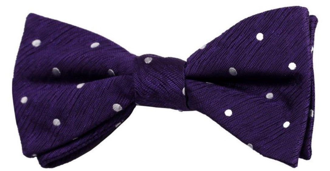 Dark Purple Mulberry Silk Bow Tie - DV Clothiers - The Best Custom Mens Suits In Vancouver