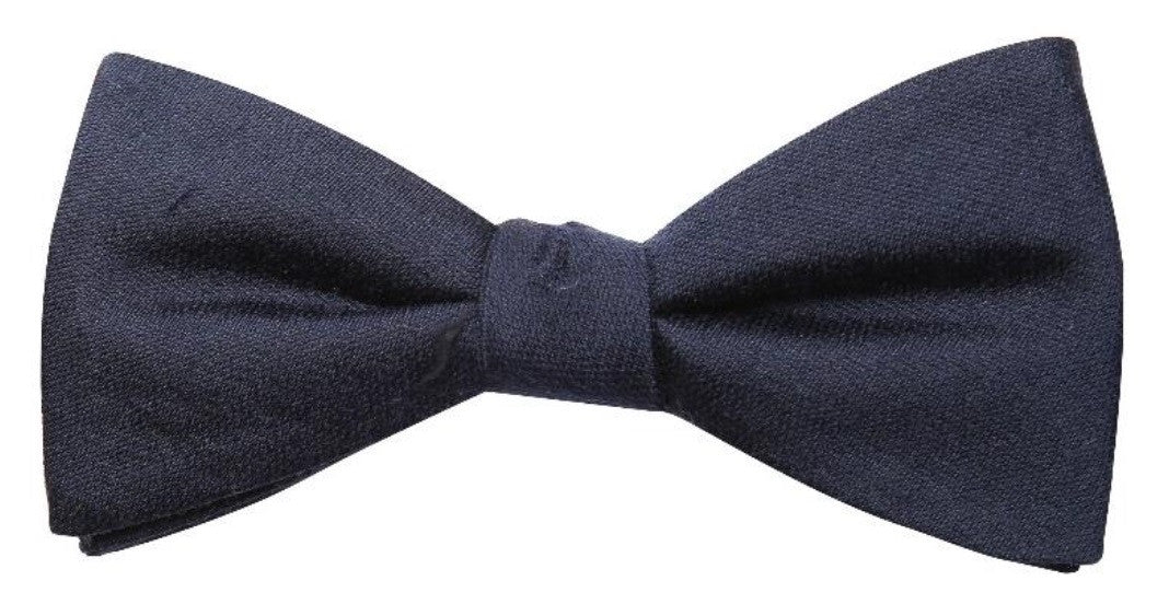 Dark Burgundy Mulberry Silk/ Wool Bow Tie - DV Clothiers - The Best Custom Mens Suits In Vancouver