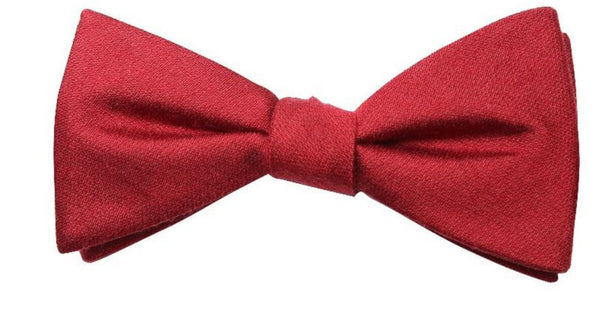 Red Mulberry Silk/ Wool Bow Tie - DV Clothiers - The Best Custom Mens Suits In Vancouver