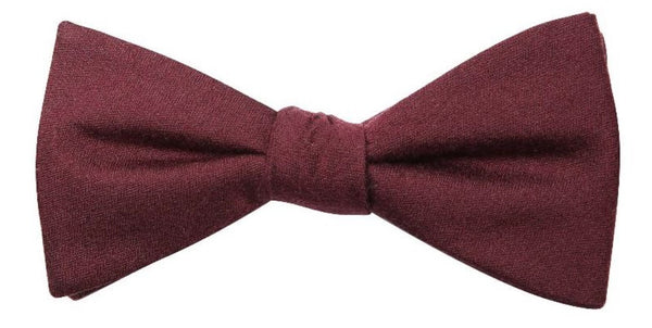 Denver Mulberry Silk/ Wool Bow Tie - DV Clothiers - The Best Custom Mens Suits In Vancouver